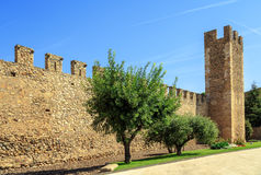 Walls of the fortified  Montblanc, Catalonia. Stock Photos