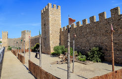 Walls of the fortified  Montblanc, Catalonia. Royalty Free Stock Photo