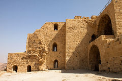 Walls of the fortified town of Kerak Stock Photos