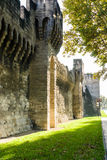 The walls of the fortress of Avignon Royalty Free Stock Photography