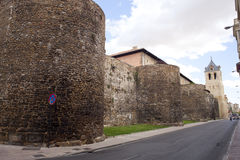 Walls of the fortress city of Leon Stock Photography