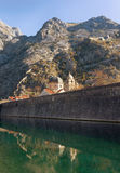 Walls of the fortress. Kotor city. Montenegro Stock Image