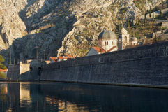 Walls of the fortress. Kotor city, Montenegro Royalty Free Stock Image