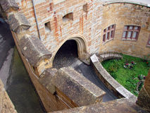 The walls and gates of the castle Royalty Free Stock Photo