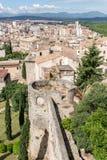 Walls of Girona Stock Photos