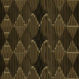 Walls of gold. With a stripe pattern and a romboid pattern on top Royalty Free Stock Photography