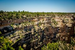 Walls of Grand Canyon Cliffs, AZ Stock Photo