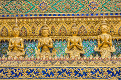 Walls grand palace Phra Mondop Royalty Free Stock Photography