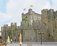 The walls of Gravensteen Castle Royalty Free Stock Image