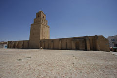 Walls of the Great Mosque of Kairouan in Tunisia. The Great Mosque of Kairouan, also known as the Mosque of Uqba, is one of the most important mosques in Tunisia Stock Image