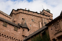 The walls of Haut-Koenigsbourg castle in Alsace, France Royalty Free Stock Photography