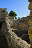 Walls, Herculaneum. Ruins in Scavi Ercolano, Campania, Italy. Portrait Mode Royalty Free Stock Photos