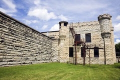 Walls of historic Jail in Joliet, Illinois Royalty Free Stock Photo