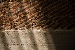 Walls of house with clay bricks. Stock Images