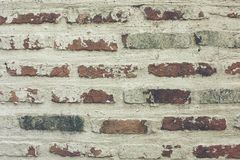 Old brick wall for along time. stock photos