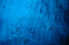 Walls of the ice cave on the glacier in iceland stock photography