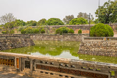 Walls in the Imperial City of Hue, Vietnam royalty free stock photography