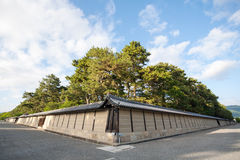 Walls of the Imperial Palace in Kyoto Stock Photography