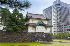 Walls of the Imperial Palace in Tokyo Royalty Free Stock Image