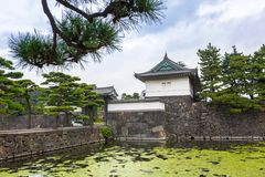 Walls of the Imperial Palace in Tokyo Stock Photo