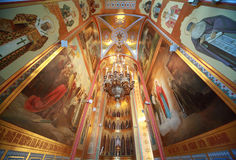 Walls inside Cathedral of Christ the Saviour Royalty Free Stock Photography