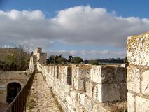 Walls of Jerusalem. View from the walls of Jerusalem Stock Photos