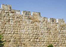 Walls in Jerusalem, Israel. Ancient walls in Jerusalem, Israel. Old stones texture in the holy city Royalty Free Stock Photography