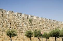 Walls of Jerusalem, Israel. Ancient walls of Jerusalem, Israel. Streets in Jerusalem Stock Image