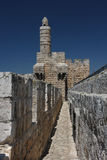 Walls of Jerusalem, Israel. Fragment of walls surrounding old city of Jerusalem, Israel Royalty Free Stock Photo