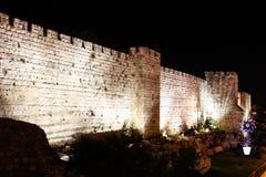 Walls of Jerusalem at night. Holy city Royalty Free Stock Image