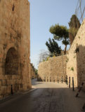 The Walls of Jerusalem. The walls of Old City Jerusalem in Israel Royalty Free Stock Photos