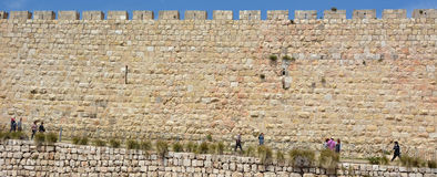 Walls of Jerusalem old city  - Israel Royalty Free Stock Photography