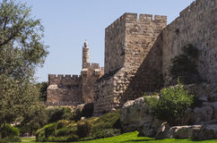 The walls of Jerusalem Stock Images