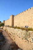 Walls of Jerusalem. Surround the Old City of Jerusalem. In 1535 when Jerusalem was part of the Ottoman Empire, Sultan Suleiman I ordered the ruined city walls Stock Photography