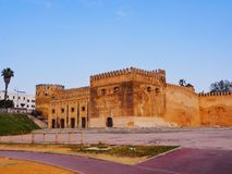 Walls of Kasbah of the Udayas in Rabat, Morocco Royalty Free Stock Images
