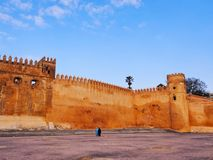 Walls of Kasbah of the Udayas in Rabat, Morocco Stock Photos