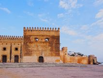 Walls of Kasbah of the Udayas in Rabat, Morocco Royalty Free Stock Photography