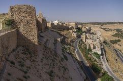 Walls of the Kerak Castle, a large crusader castle in Kerak (Al Royalty Free Stock Images
