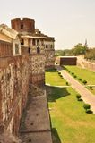 Walls of the Lahore fort, Pakistan Royalty Free Stock Photo