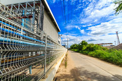 Walls landscapes and see the road . Industrial plants that have environmental management systems in the provinces of Thailand Royalty Free Stock Images
