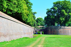 The walls of Lucca Stock Photo