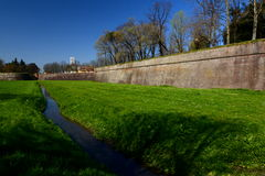 The walls. Lucca, Tuscany, Italy. Royalty Free Stock Photos