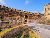 Walls of Macarana in Seville, Spain Royalty Free Stock Image
