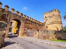 Walls of Macarana in Seville, Spain Royalty Free Stock Photos
