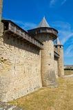 Walls with machicolation Stock Image