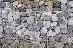 The walls are made of stone. The walls are made of stone, laid together and wire Royalty Free Stock Photos