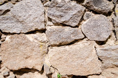 The walls are made of stone. Natural background stock photo