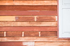 The walls are made of wood. Royalty Free Stock Image