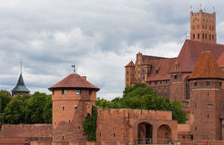 Walls of Malbork castle Royalty Free Stock Photo