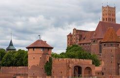Walls of Malbork castle Royalty Free Stock Photo